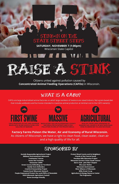 Raise A Stink Poster at Wisconsin Capitol